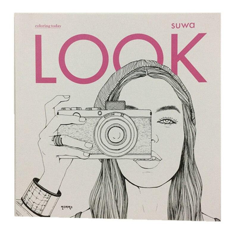 96 seiten Fashion-LOOK Färbung Bücher Für Erwachsene Kinder Mädchen antistress Kunst Zeichnung Malerei Geheimnis Garten färbung buch Libros