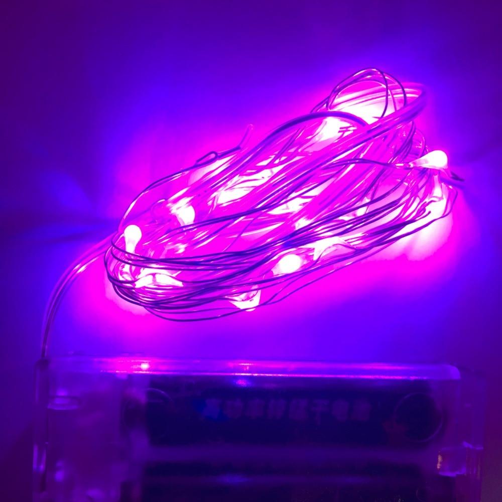 2 м 3 м 5 м RGBW розового и фиолетового цветов желтый несколько Цвет Щепка Провода Фея Гирлянды светодиодные Батарея украсить свет для дома свад...