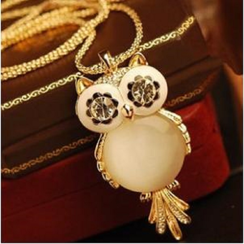 Statement Necklace Chunky Antique Owl