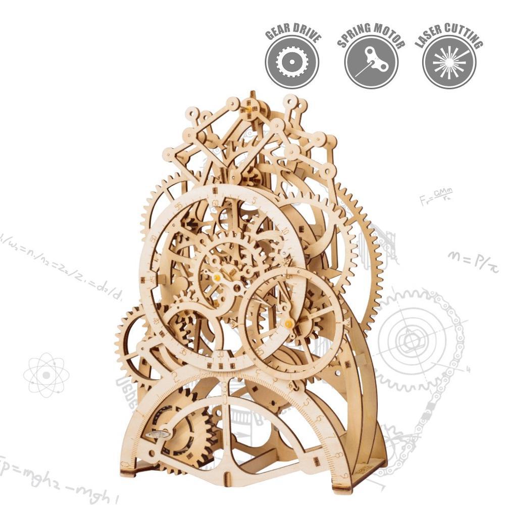 2019 New Arrived 3D Puzzle Movement Assembled Wooden Pendulum clock - LK5012019 New Arrived 3D Puzzle Movement Assembled Wooden Pendulum clock - LK501