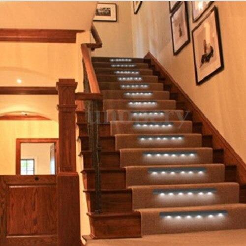 Wireless Motion Sensor 6 LED Light Home Wall Night Stick Light Home LED  Lighting Lamp Battery