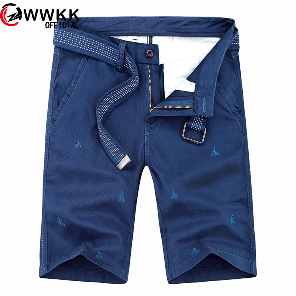 Shorts Men Bottoms-Belt Hot-Sale Cotton Casual Fashion-Brand New Loose Homme-Quality