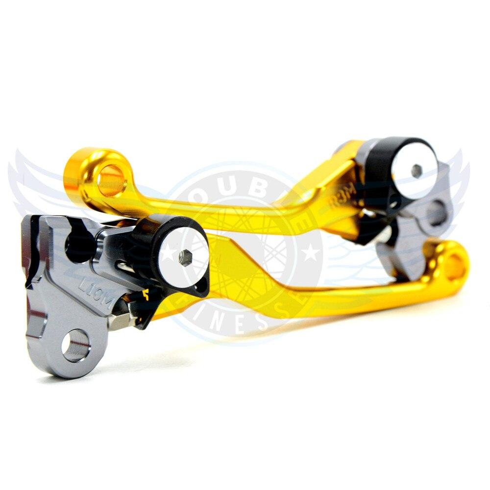 ФОТО motorcycle Pivot Brake Clutch Levers cnc  brake clutch lever For Kawasaki KX250 1990-2008 KX250F 2004-2015 KX450F 2006-2015