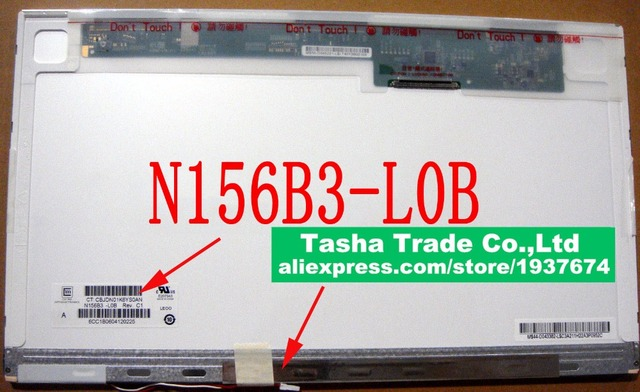 N156B3-L0B N156B3 L0B Matrix for Laptop 15.6 1366*768 WXGA HD CCFL Backlight LCD Screen