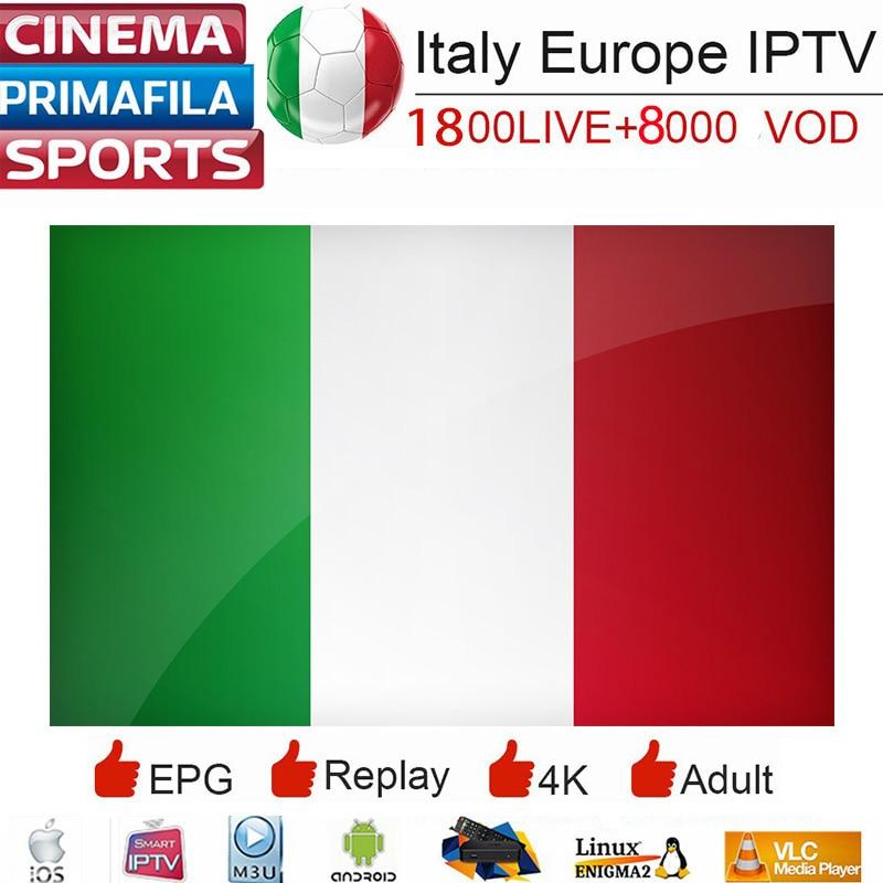 Inteligente IPTV Italia M3U HD Dazn Premium Full HD 2000 Vidas 8000 + VODs Esportes Itália APK Alemão França Grego lista de reprodução para Smart TV