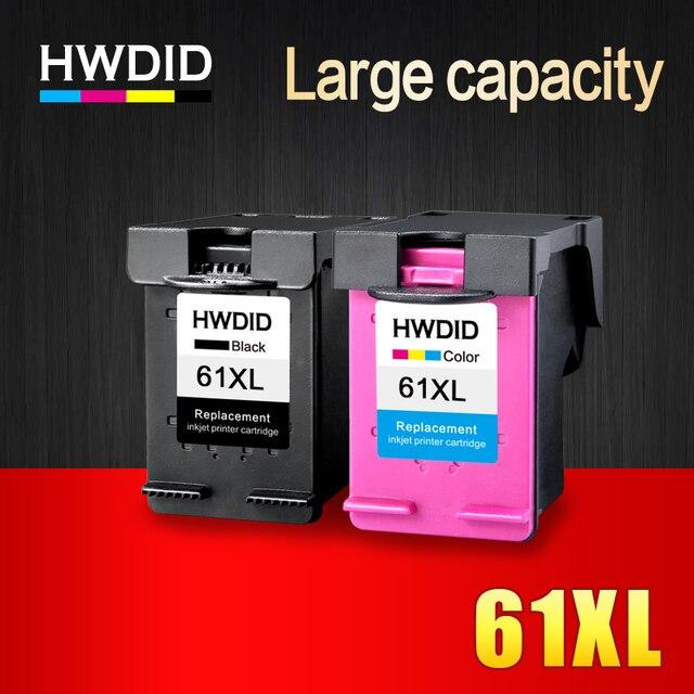 HWDID 61XL Cartouche Dencre Rechargée remplacement pour HP 61 XL pour HP Deskjet 1000 1050 1055 2000 2050 2512 3000 J110a J210a J310a