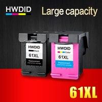 HWDID 61XL napełnić pojemnik z tuszem zamiennik dla HP 61 XL dla HP Deskjet 1000 1050 1055 2000 2050 2512 3000 J110a J210a J310a w Tusze do drukarek od Komputer i biuro na