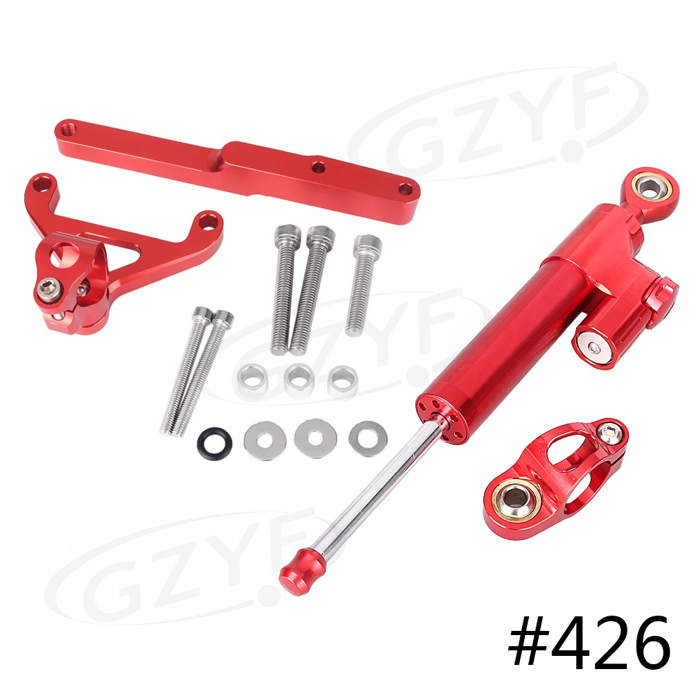 CNC Aluminum Steering Damper Stabilizer w/ Bracket Mounting Kit Satety Control for CB1000R 2008-2016 Anodized