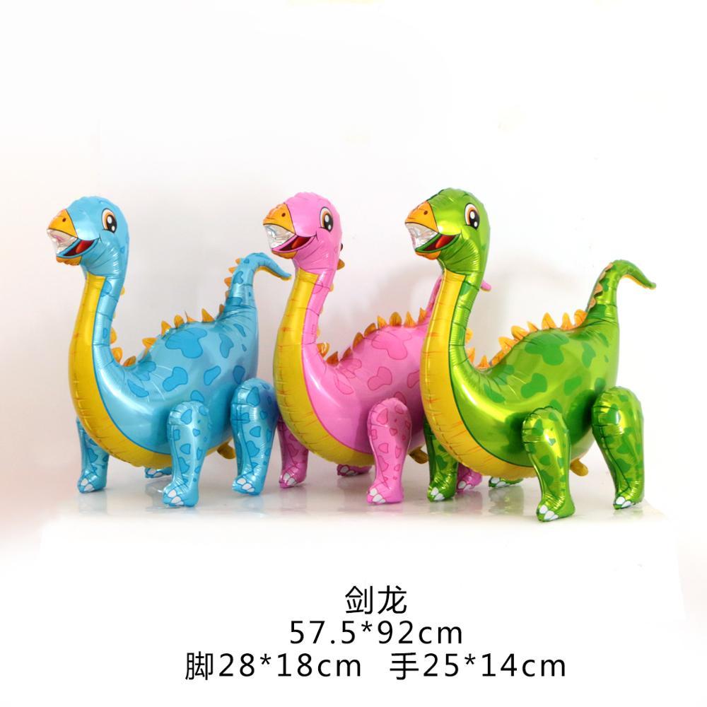 Большие шагающие 4D фольгированные воздушные шары динозавр в стиле джунглей, животные, украшения для дня рождения мальчиков, Юрского периода, дракон, детские игрушки, новый год 2021-2