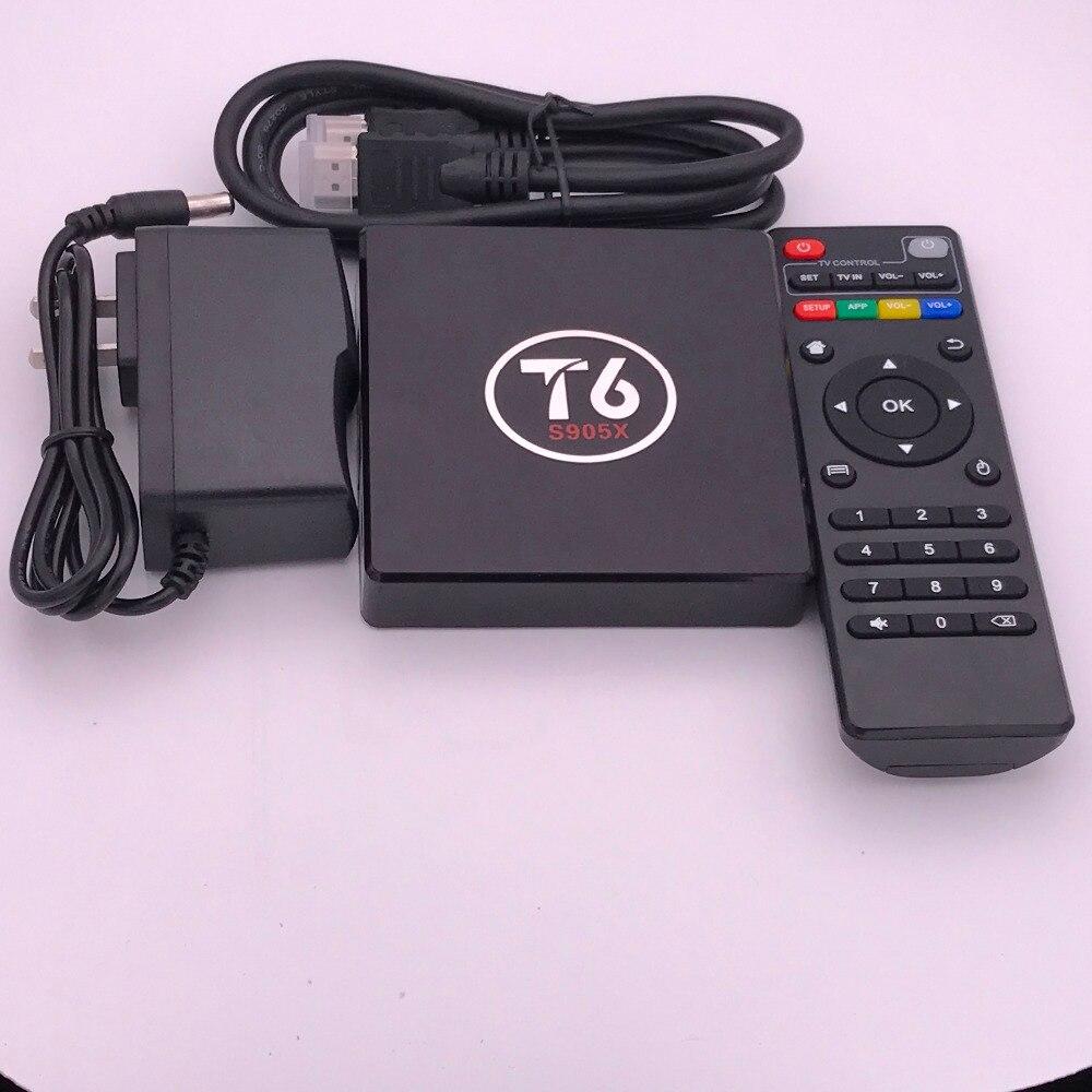 Android 7.1 TV Box T6 Media Player 2GB DDR3 RAM 16GB ROM Amlogic S905X Quad Cores Set Top Box WiFi Smart Box 1Pcs mini m8s android 4k tv box amlogic s905 android 5 1 quad core wifi bt 4 0 ram 2gb rom 8gb set top box media player