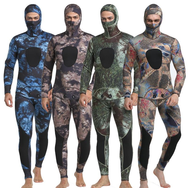New Neoprene 3mm Camouflage One-piece Diving Suit Surf Suit Keep Warm Waterproof Men Camouflage Diving Suit Waterproof Wetsuits цена