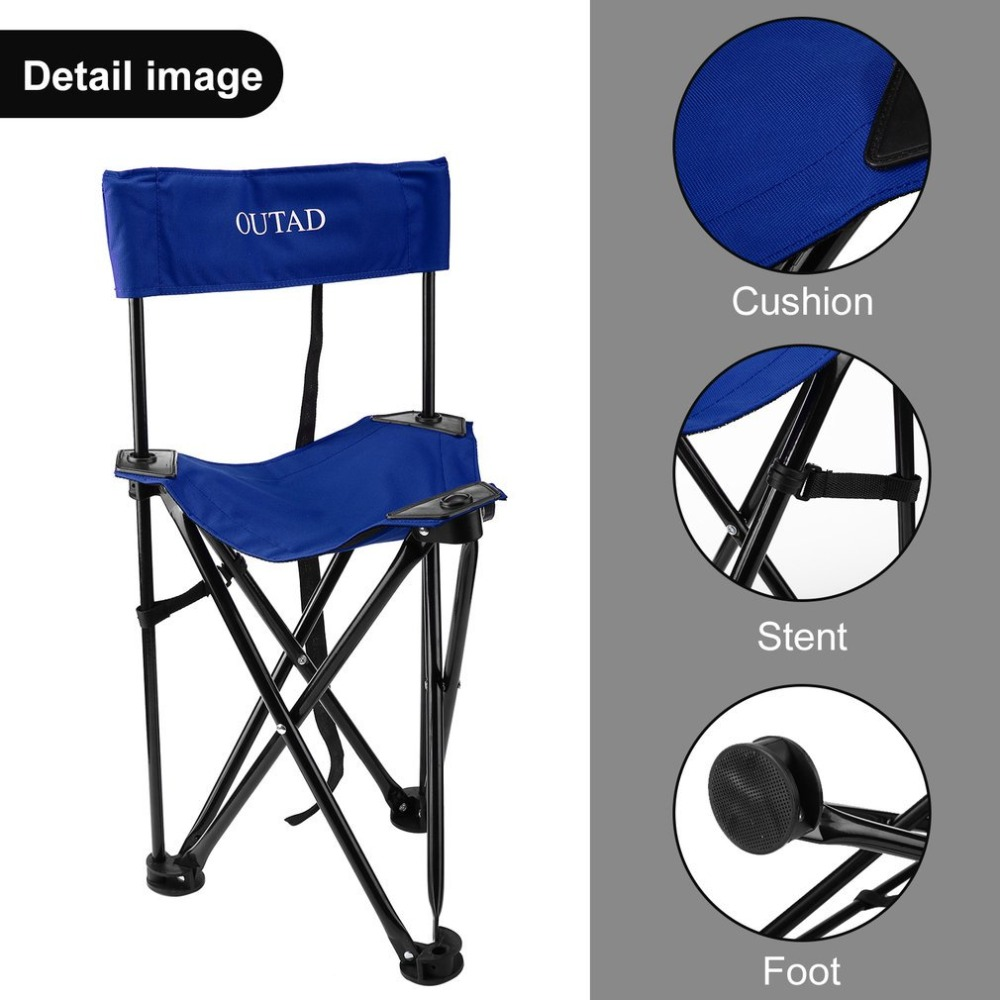 Outdoor Portable Convenient 600D Oxford Cloth Triangle Shaped Folding Backrest Chair Trekking Camping Fishing PicnicOutdoor Portable Convenient 600D Oxford Cloth Triangle Shaped Folding Backrest Chair Trekking Camping Fishing Picnic