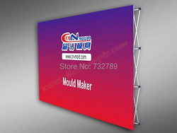 10ft High-quality Promotional Pop up Display Banner Stand Tension Fabric Frame Exhibition Stand Booth BST4-6A