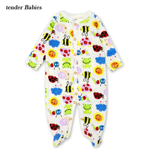 лучшая цена Newborn Baby Rompers Jumpsuit Floral Print Baby Romper Baby Girl Born Romper 3-12M Kids Playsuit Pajamas Toddler Outfit
