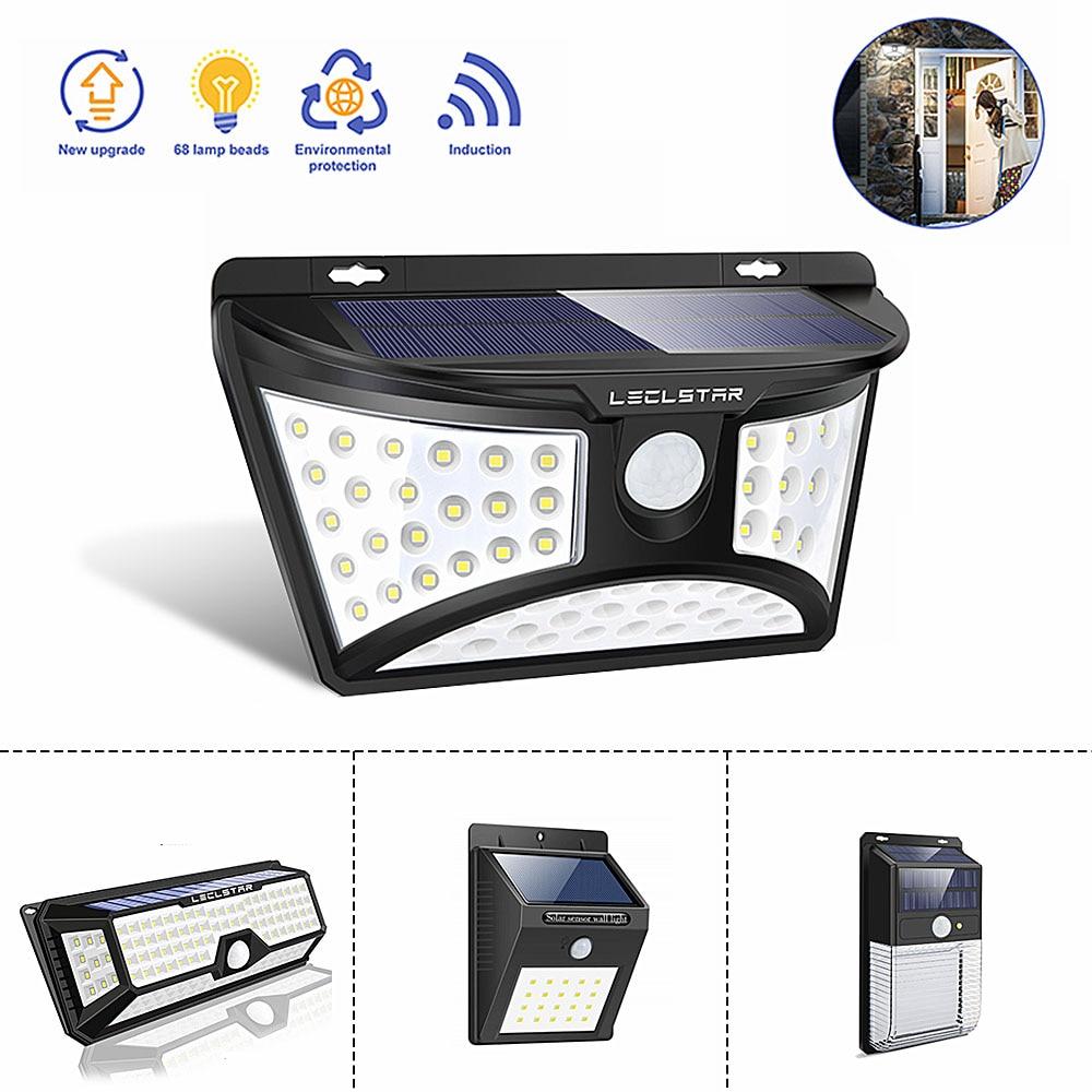 LED Solar Light Motion Sensor Solar Power Lamp For Garden Decoration Waterproof Outdoor Lighting Super Bright Security Wall Lamp