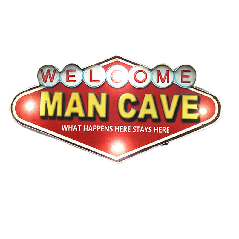 Shabby Chic Man Cave Neon Signs For Bar Cafe Garage Cuba Kitchen Wall Decorative Vintage Metal