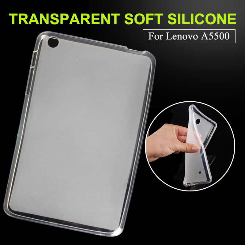 Luxury Hot fashion high quality Transparent TPU For Lenovo tab a8 A5500 A8-50 A5500-h Soft silicone Back Cover Case Tablet case lenovo tab a8 50 8 16gb 3g blue a5500