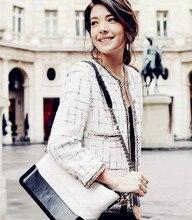Manteau court femme tweed