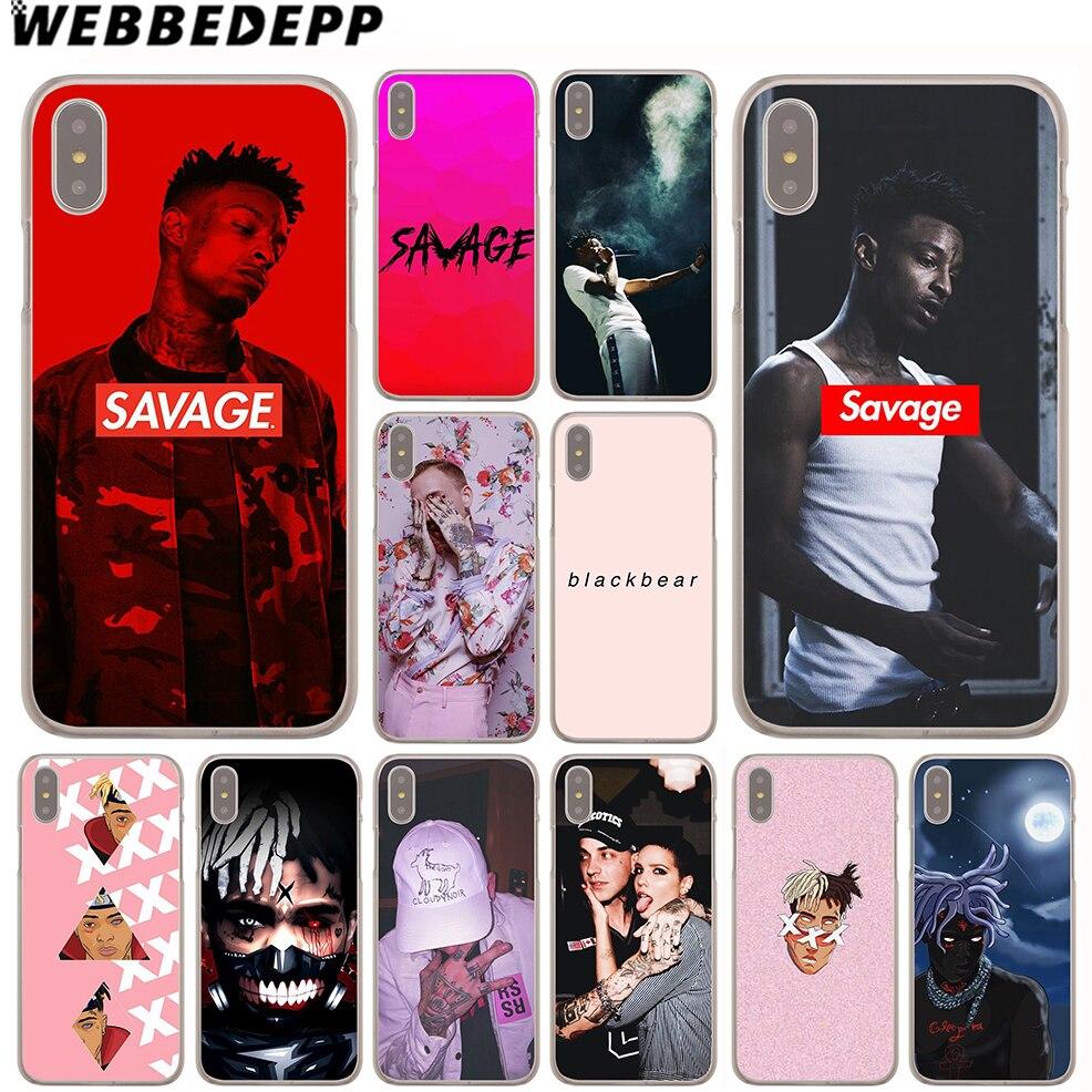 WEBBEDEPP 21 Savage XXXTENTACION Case for iPhone X or 10 8 7 6 6S Plus 5 5S SE 5C 4 4S ...