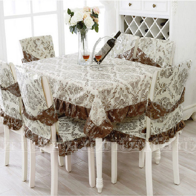 Lace Tablecloths For Weddings Home Textile Crochet Table Cover Dining Chair Covers Embroidery Cloth Luxury