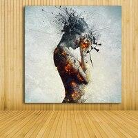 Современные красочным ню живопись уникальные идеи Сексуальное Женское Тело Холст Картина маслом Настенный декор