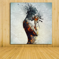 Contemporary Modern colorfull nude art painting unique ideas sexy woman body canvas oil painting wall decor