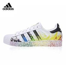 Original Nouvelle Arrivée Authentique Adidas Trèfle Superstar Or Étiquette Hommes et Femmes Planche À Roulettes Chaussures Sneakers(China)