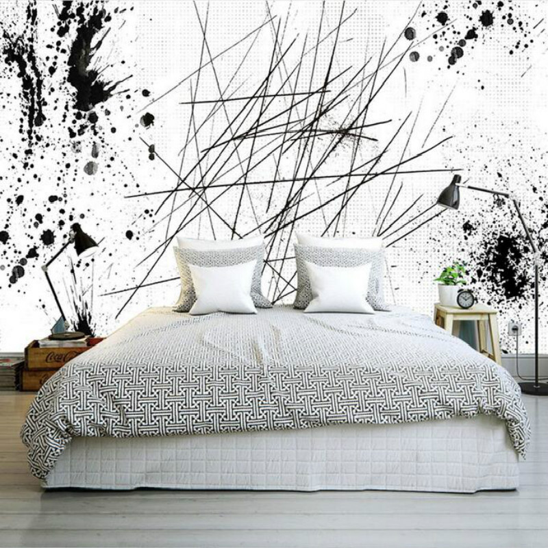 Modern Ink Painting Style Abstract Line Large Mural Wallpaper Living Room Bedroom Wallpaper Painting TV Backdrop 3D Wallpaper large mural papel de parede european nostalgia abstract flower and bird wallpaper living room sofa tv wall bedroom 3d wallpaper