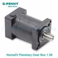 1:36 Nema23 stepper Motor Planetary Reduction Ratio 36:1 planet gearbox 57 motor speed reducer, High Torque high quality !!