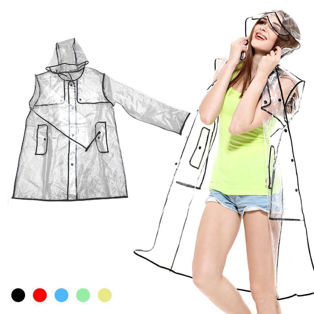 Transparent eva raincaot outdoor travel water proff rain coat for women men camping A3