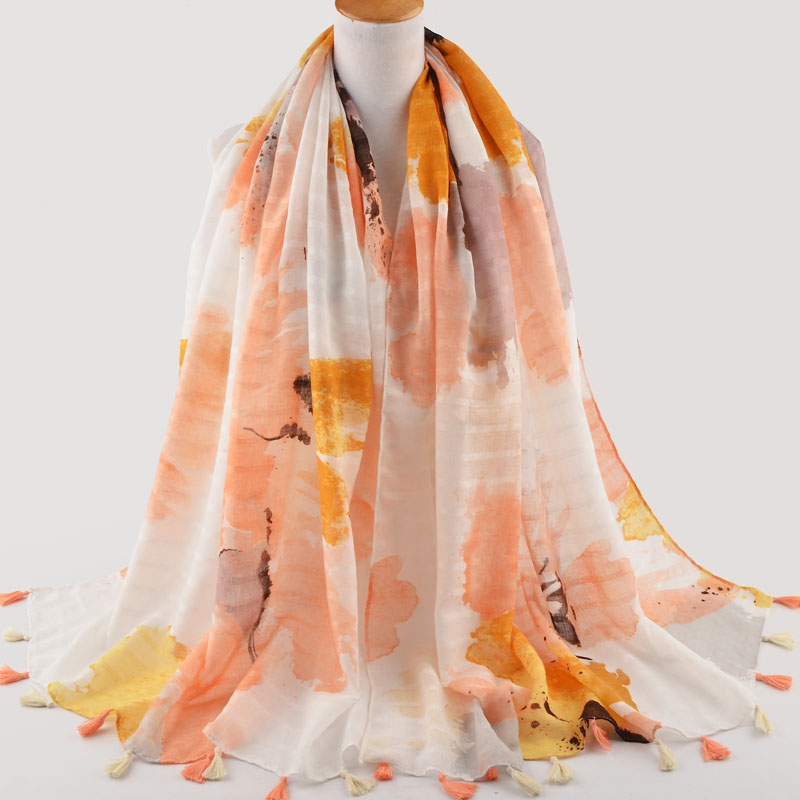 Spring 2018,Chinese ink printed scarf,Muslim hijab,shawls wraps,cape,shawls and scarves,head scarf,british style,cotton scarves