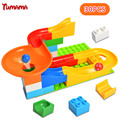 Marble Race Run Maze Balls Track Building Blocks Construction DIY colorful Assembly Brick Gaming Balls Rolling Toys for kids