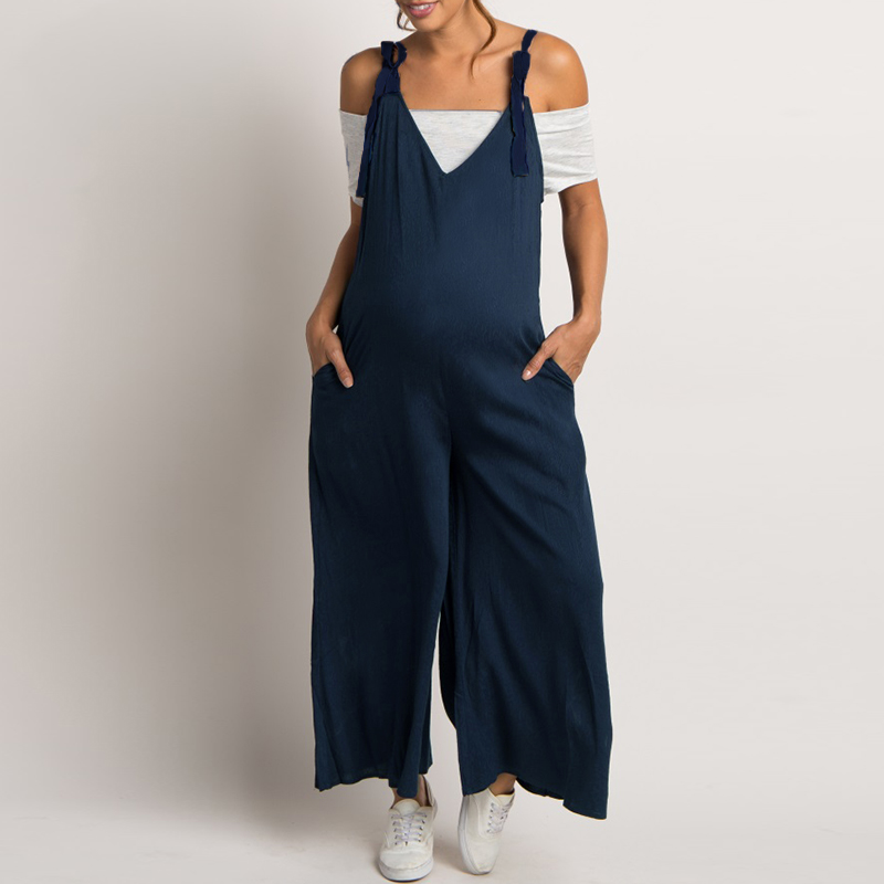 85e795ab349 Maternity Clothes 2018 Summer Rompers Womens Jumpsuit Pregnancy Casual  Loose Wide Leg Pants Pregnant Playsuits Plus Size S-5XL