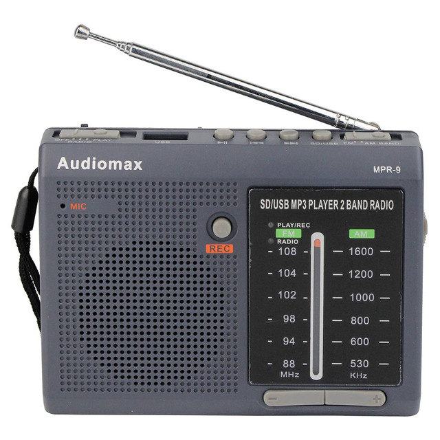 Venda quente! FM/AM 2 Bandas Receptor de Rádio REC Gravador de Cartão SD USB MP3 Player Rádio FM Y4151