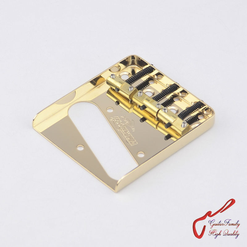 1 Set Original Genuine Wilkinson WTB Vintage Type Fixed Electric Guitar Bridge With Brass Saddles  Gold  MADE IN KOREA free shipping 10pcs 100% new protel