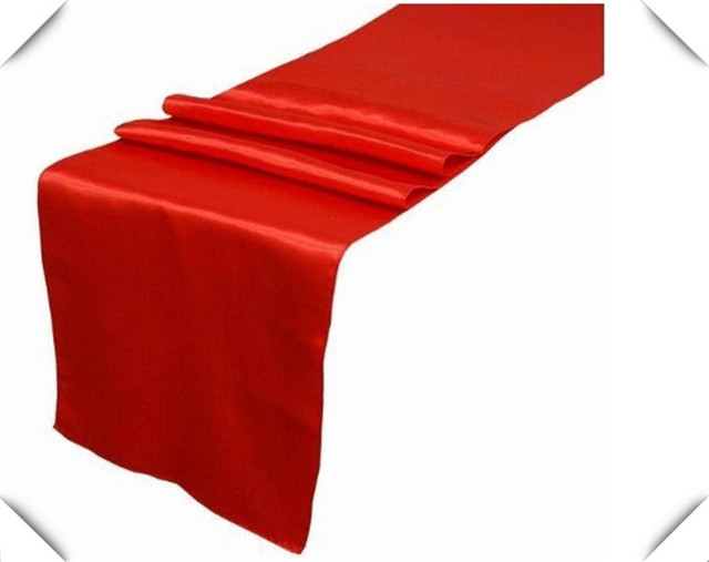 Nice 12 Dark Red Table Runners Satin Table Runners FOR Wedding Decoration FREE  SHIPPING