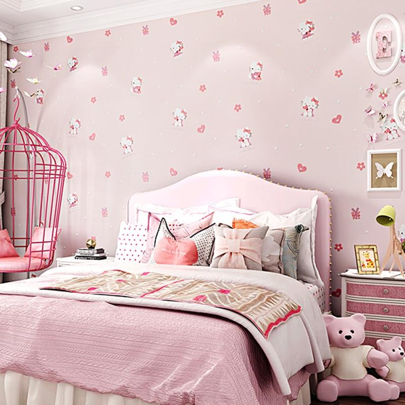 Lovely Hello Kitty Cat Wallpaper Kids Rooms Wall Decor 3d Cute