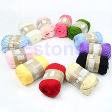 1 Skein Sweater Knitting Thread High Quality Natural Silk Cotton Baby Sweater Soft Yarn Knitting Thread Hot