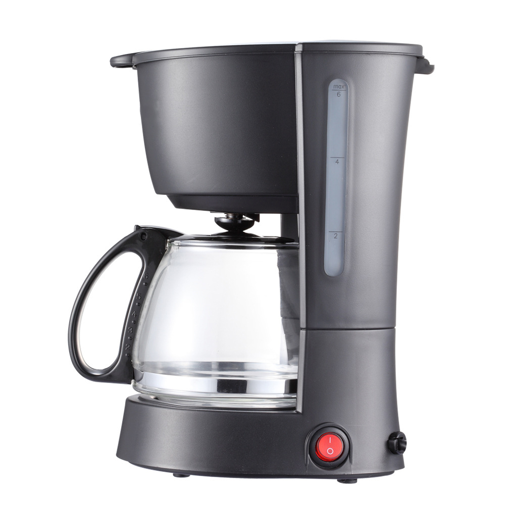 Household Electric Coffee Maker 5 Cups Espresso Or American Drip Coffee Machine Semi-automatic Coffee Maker With Water Window md236 commercial drip coffee maker household automatic american coffee maker