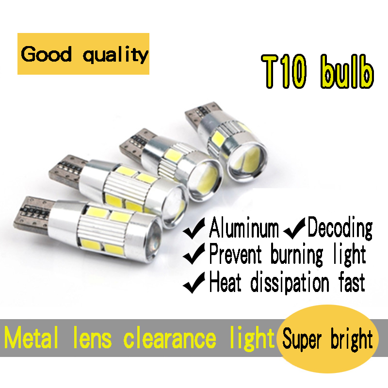 Bodiwei Co., LTD. Store 4PCS special car auto LED bulb T10 LED clearance lights small lights super bright day light daytime running lights