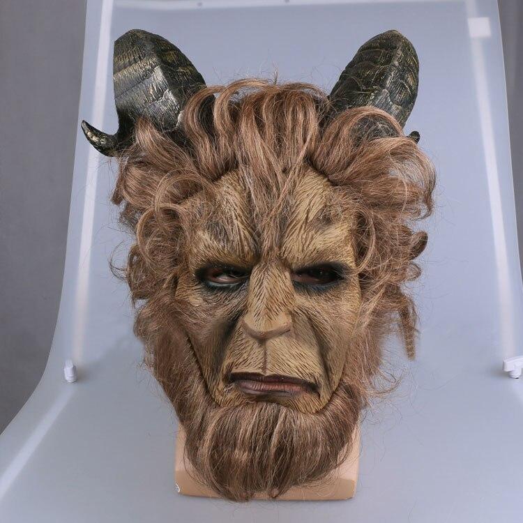 La belle et la bête Adam Prince masque Latex tissu Lion Cosplay casque de l'original 2017 film pour Halloween costume de fête