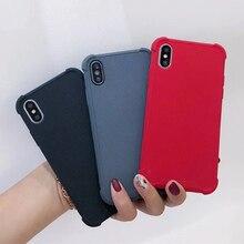 Модные Карамельный цвет Мягкий силикон TPU матовый чехол для iPhone XR XS MAX 8 плюс 7 Plus 6s плюс телефоны аксессуары