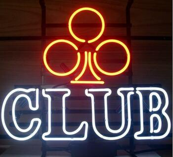 Custom Club Decorate Glass Neon Light Sign Beer Bar