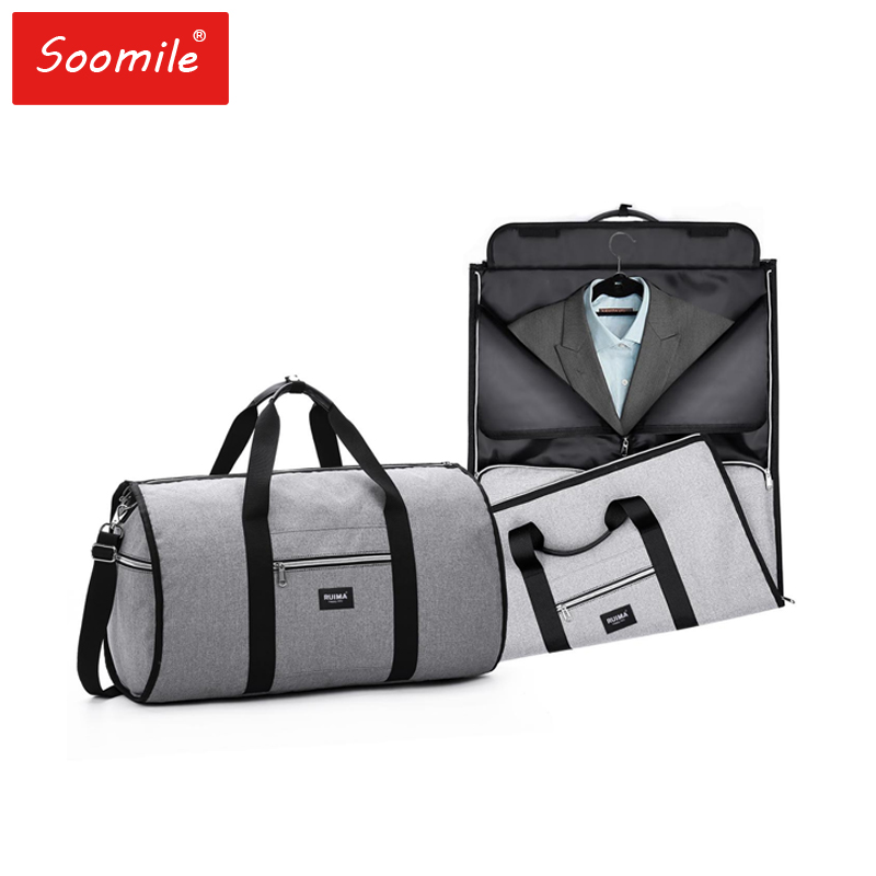 Travel Bag brand men 2 in 1 Garment Bag High-capacity Multi-function Foldable nylon duffle bags suit Busines Trip shoulder bag