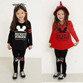 New 2017 Spring Mickey Sports Suits Long Sleeve Girls Cotton Clothing Sets Children Clothes CC182-CGR3