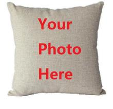 Cotton Linen Throw Pillow Case with your Photo printed on