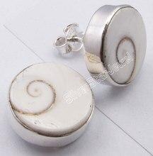 Chanti International pendientes de moda con gemas de ojo de SHIVA, genuinos, planos, 1,5 CM