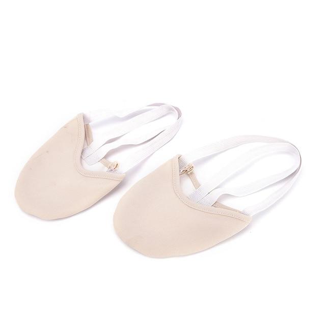 1 Paire Élastique Chaussures De Danse Rythmique Gymnastique Chaussures Doux  Demi Chaussettes Salle De Bal Art cd3dd819a80