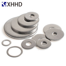304 Stainless Steel Flat Gasket Metal Metric Meson Plain Washer M1.6 M2 M2.5 M3 M4 M5 M6 M8 M10 M12 M14 M16 M18 M20 M22 M24 qintides m14 m16 m18 m20 m22 m24 hexagon domed cap nuts 304 stainless steel acorn nuts ball head cap nut