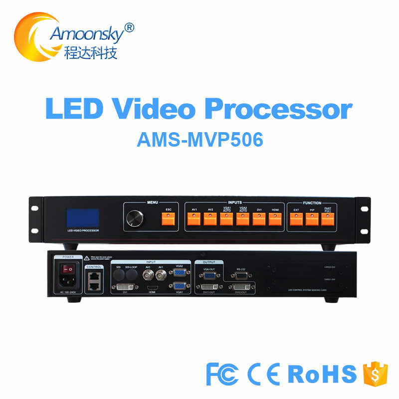 MVP506 prezzo più basso come display a led processore video KS600, indoor p2 p3 p4 p5 ha condotto il pannello parete video a led processore ingresso DVI HDMI